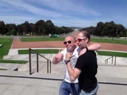 andyfied & Buffey in loving embrace, Australian National War Memorial, Canberra